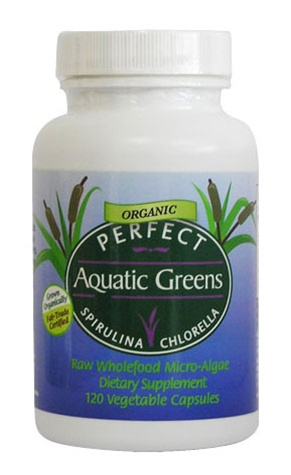 Perfect Aquatic Greens - Organic Spirulina & Chlorella -120 Caps
